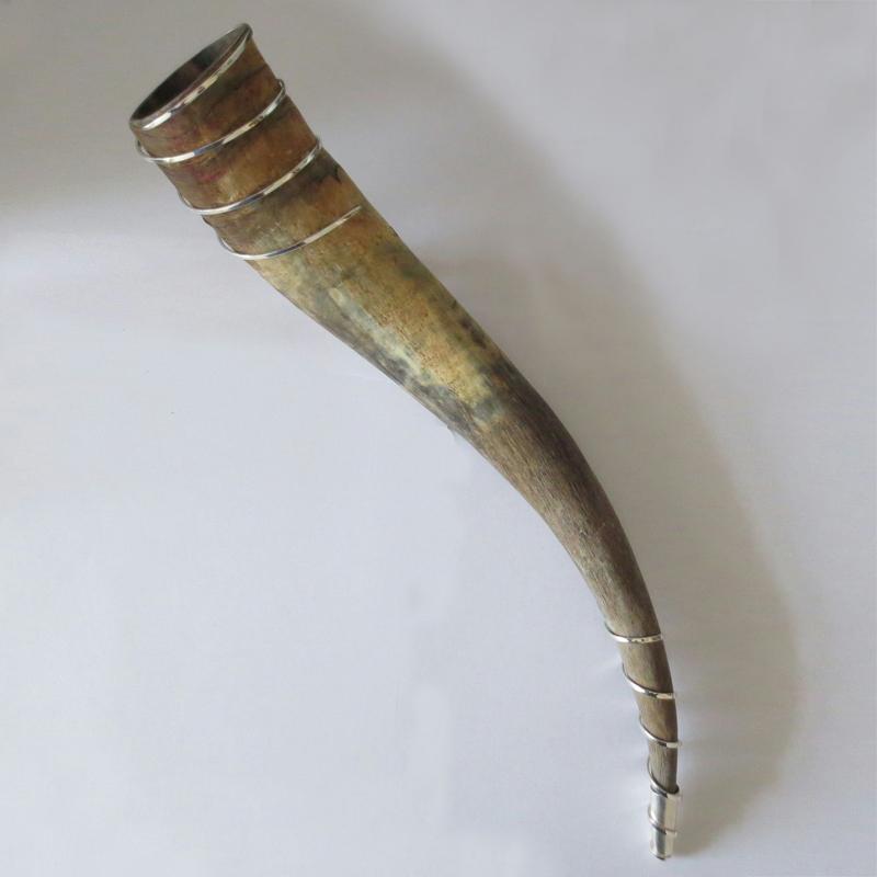 Trinkhorn und Silber